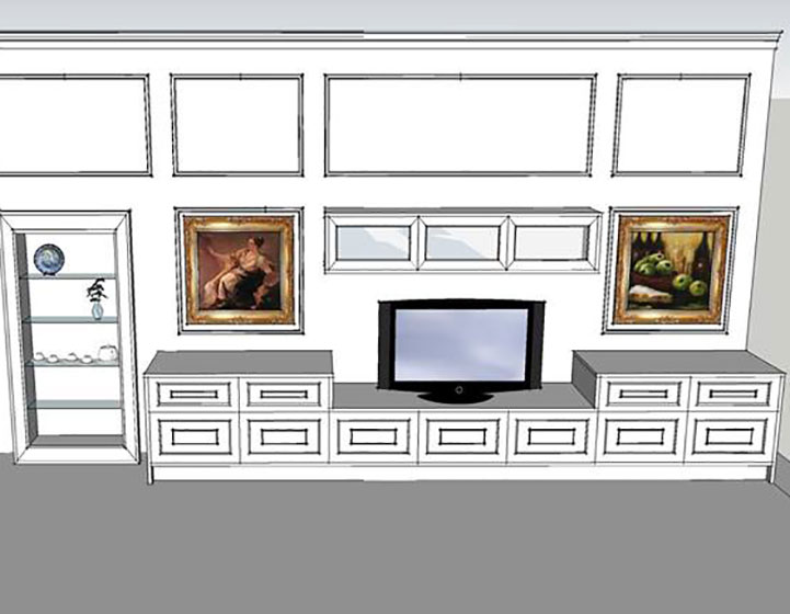 Archigio 3d innenarchitektur studio per progetto cucina soggiorno - Progetto cucina soggiorno ...
